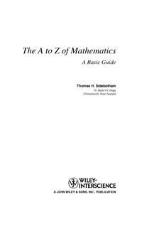 The A to Z Mathematics — обложка книги.