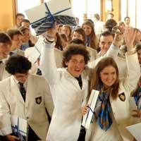 Счастливые студенты Швейцарии.