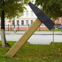 Памятник молотку, Йошкар-Ола.