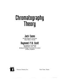 Chromatography Theory — обложка книги.