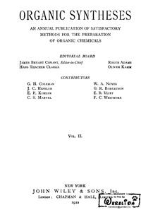 Organic syntheses. V. 2 — обложка книги.