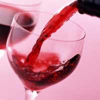 Красное вино.