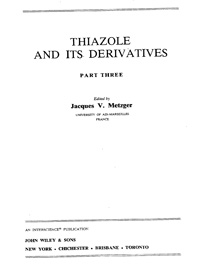 Thiazole and its Derivatives. Part Three — обложка книги.