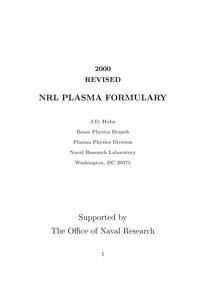 NRL plasma formulary — обложка книги.
