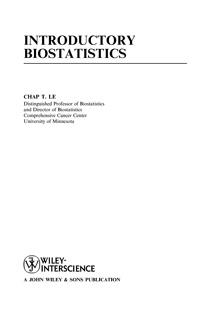 Inroductory Biostatistics — обложка книги.