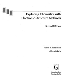 Exploring Chemistry with Electronic Structure Methods — обложка книги.